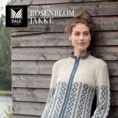 DG368-12 Reinrose genser – grå – Dale Garn Hooks, Stitches, Knitting, Inspiration, Threading, Biblical Inspiration, Stitching, Tricot, Haken