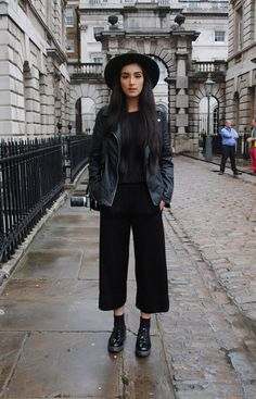 Petite Style Pants | Black On Black | Edgy Street Style