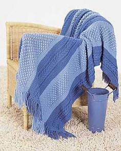 Knit Blanket Pattern Size 13 Needles : 1000+ images about Knitting - Afghans/Blankets on ...