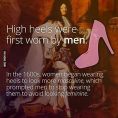 And pink used to be a masculine color, but now it is contaminated by being considered 'feminine'