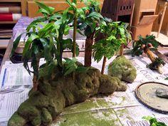 Battleground Hobbies: Battlefield Jungle Terrain. Tutorial