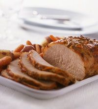 Mustard-Maple Pork Roast. Leave out the potatoes and carrots for South Beach Diet Phase 1