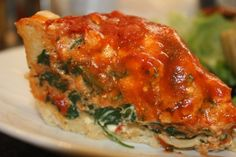 Chicago Style Deep Dish Pizza With Homemade Beer Batter Crust, Spinach & Cashew Ricotta #vegan