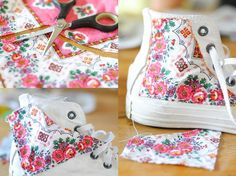 diy-designing your own converse. Diy Clothes And Shoes, Diy Clothing, Diy Converse, Minion Shoes, Shoe Makeover, Diy Vetement, Disney Toms, Do It Yourself Fashion, Hand Painted Shoes