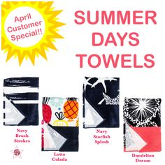 Summer days towels!! April customer special. Graphic for Facebook VIP group. Thirty-One spring/summer 2018 www.mythirtyone.ca/sabrinawhite