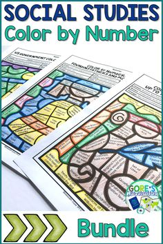 Your upper elementary students will LOVE the activities in this Social Studies Color by Number Bundle! These printables will be a great way to review important facts and people from American history. Explorers, US Government, Revolutionary War, and more topics are included. Perfect for research, review, stations/centers, and more! {Grades 3, 4, 5, 3rd, 4th, 5th} Social Studies For Kids, 7th Grade Social Studies, Social Studies Activities, History Activities, Teaching Social Studies, Teaching History, Teaching Activities, Teaching Tools, Teaching Ideas