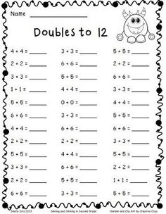 Adding Doubles and a Freebie | Smiling and Shining in Second Grade | Bloglovin