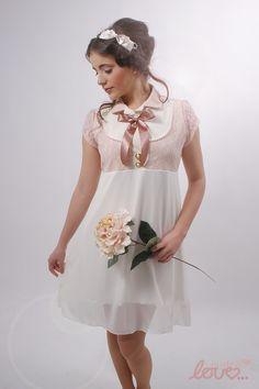 """Brautkleider - """"Mina""""-Fest/Brautkleid Chiffon Rosé - ein Designerstück von mydearlove bei DaWanda"""