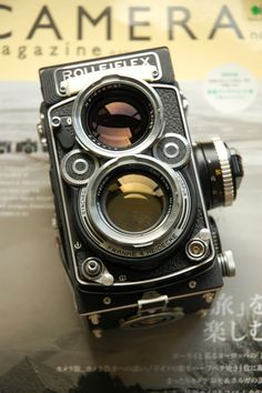 Rolleiflex 2.8F TLR (Twin Lens Reflex) Classic medium format analogue vintage camera.