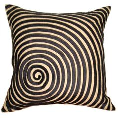 Luxury Haywood Black Spiral Velvet Cushion Furniture Accessories Cushion Cloth Black