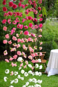 floral curtains for wedding - Google Search