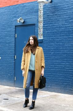 """""""It's funny how clothing can transport you to another time and place. Calling to mind memories both mundane and important. This coat was one of the first vintage pieces I thrifted in Pittsburgh."""""""