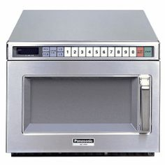 Panasonic - 2100 Watt Compact Commercial Microwave Oven with 60 Programmable Memory Pads - Overview Compact Microwave Oven, Panasonic Microwave, Cooking Appliances, Specialty Appliances, Small Kitchen Appliances, Cool Kitchens, Commercial Kitchen Equipment, Restaurant Equipment, Restaurants