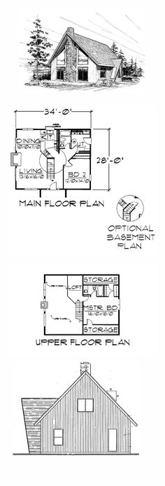 Contemporary House Plan 91033   Total Living Area: 1249 sq. ft., 2 bedrooms and 2 bathrooms. #contemporaryhome