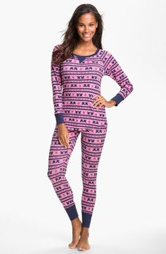 I want these pj's if anybody wants to know. Make + Model Pattern Thermal Pajamas available at #Nordstrom
