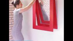 Como fazer um mesa dobrável que vira espelho de parede