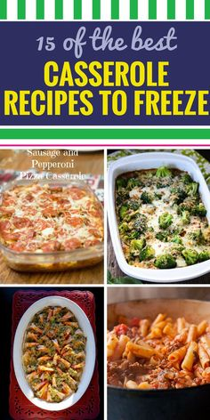 15 Casserole Recipes 15 Casserole Recipes to Freeze. 15 Casserole Recipes 15 Casserole Recipes to Freeze. Looking for a healthy meal option for your family? From soup to chicken youll never dread dinner with these amazing simple casserole Make Ahead Casseroles, Make Ahead Meals, Easy Meals, Healthy Meals To Freeze, Freezable Casseroles, Soups To Freeze, Meals You Can Freeze, Chicken Recipes That Freeze Well, Food To Freeze
