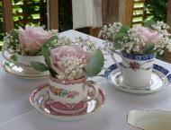 Vintage crockery set - Fleur de Lys, event hire.