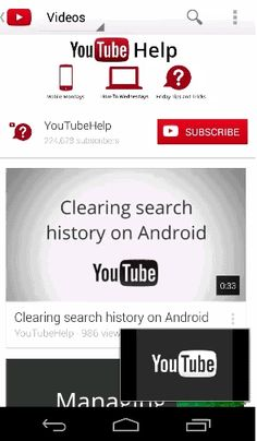 Navigálás a YouTube-on - YouTube Súgó