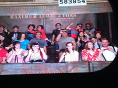 Sara and I and a few of her friends on the Tower of Terror