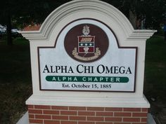 Alpha Chapter Sign - Alpha Chi Omega my beautiful home 6 months of the year <3 go alpha chapter! Sorority Decorations, Alpha Chi Omega, Florida State University, Sorority Gifts, Bid Day, College Life, 6 Months, Sign, School