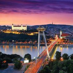 Dobrý večer z Bratislavy ! Slovensko 🇸🇰 #slovakia #slovakiagirl #slovakiaboy #slovakiaday #visitslovakia #slovensko #slovensko🇸🇰… Places Around The World, Around The Worlds, Bratislava Slovakia, European Destination, Most Beautiful Cities, Never Stop Exploring, What A Wonderful World, Homeland, Budapest