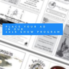 Place an ad in our 2016 Show Program. Distributed to all exhibitors & spectators at our #horseshow & #countryfair . http://ludwigshorseshow.com/support-show/program-ads/