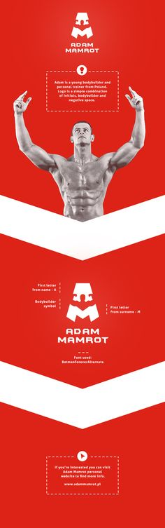 "Adam Mamrot - Bodybuilder and personal trainer by Patryk ""Biały"" Białas , via Behance"