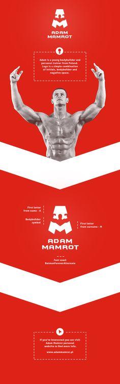 "Adam Mamrot - Bodybuilder and personal trainer by Patryk ""Biały"" Białas , via Behance"