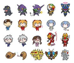 Godzilla vs Evangelion official super deformed art! They promise merchandise using these to follow.