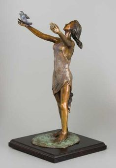#Bronze #sculpture by #sculptor Heidi Hadaway titled: 'Free to be Me (bronze…