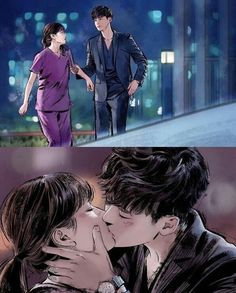 W: Two Worlds ~ I hope they will release the webtoon ver. as well and hopefully continue the story of this two after the drama ends Drama Film, Drama Movies, Drama Drama, Coloriage Lucky Luke, W Two Worlds Art, Han Hyo Joo Lee Jong Suk, W Two Worlds Wallpaper, Anime Couples, Cute Couples