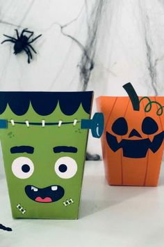 Don't miss this spooky Halloween party! The Halloween party favor boxes are so cool! See more party ideas and share yours at CatchMyParty.com #catchmyparty #partyideas #halloween #halloweenparty #halloweenpartyfavor