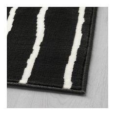 GÖRLÖSE Rug, low pile, black/white