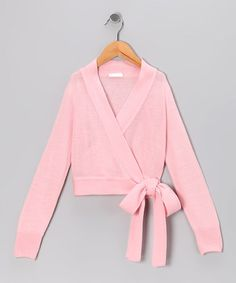 Look at this #zulilyfind! Light Pink Wrap Sweater - Toddler