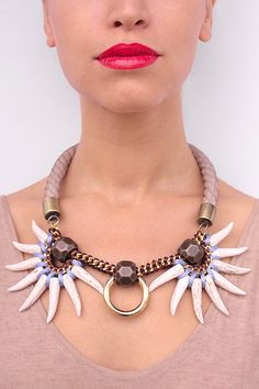 IVORY COAST statement necklace