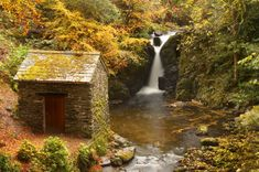 Rydal Falls at Rydal Hall in the Lake District