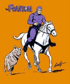 Love these adventures .with Hero and Devil. ** I loved The Phantom too! Pulp Fiction Characters, Comic Book Characters, Comic Books, Indrajal Comics, Dc Comics Superheroes, Dazzler Marvel, Desenhos Hanna Barbera, Phantom Comics, Cartoon Crazy