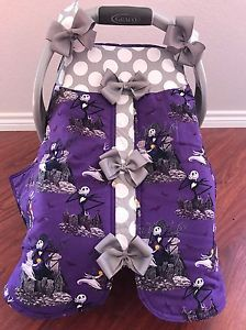Details about Nightmare Before Christmas Handmade Baby Infant Car Seat Canopy & Dallas Cowboys Handmade Baby Infant Car Seat Canopy-Cover | eBay ...