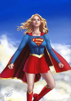 ArtStation - Fanart Super Girl, ∞ Hoang Phi Than Long ∞ Dc Comics Characters, Dc Comics Art, Comics Girls, Power Girl Supergirl, Supergirl Comic, Marvel Dc, Superman Family, Female Superhero, Dc Super Hero Girls