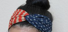 July 4th headband - Patriotic headband - twist flag turban