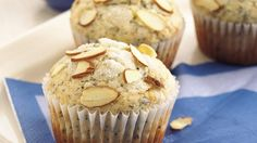 The flavors of almond and poppy seed pair nicely in a variety of baked goods. These moist muffins are no exception!