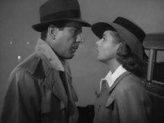 Casablanca (1942) Lovers cut up in the craziness of war. Good vs. Evil, with most people living in the middle, just hoping not to be killed. Rick, the main character, is an American, and he represents America, trying to stay out of Europe's problems, but he can't ignore the danger of Nazism or his true nature. In the end, he chooses to save his lover, even though he can't be with her. Hopeful and sad.