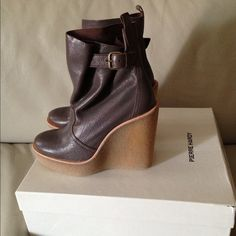 Pierre Hardy Boots. Pierre Hardy Ankle Boots. 100% brand new in box. Grey Leather. Pierre Hardy Shoes