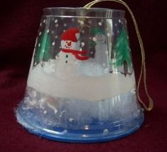 how to make a snowglobe Christmas ornament