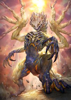 Monster Hunter Series, Monster Hunter Art, Monster Art, All Mythical Creatures, Fantasy Creatures, Creature Concept Art, Creature Design, Fantasy Beasts, Fantasy Art