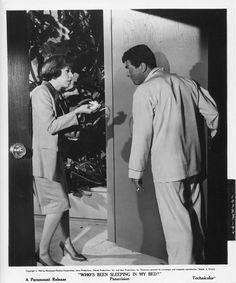 WHO'S BEEN SLEEPING IN MY BED orig 1963 still photo DEAN MARTIN/CAROL BURNETT