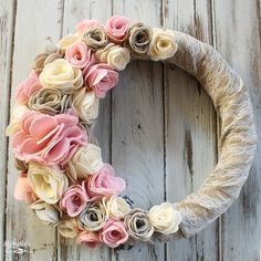 Felt Flower Wreath   Sizzix Tutorial