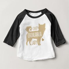 #crazy chihuahua lady baby T-Shirt - #chihuahua #puppy #dog #dogs #pet #pets #cute