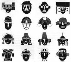 Variedad de rostros, Arte Precolombino colombiano!!!!!